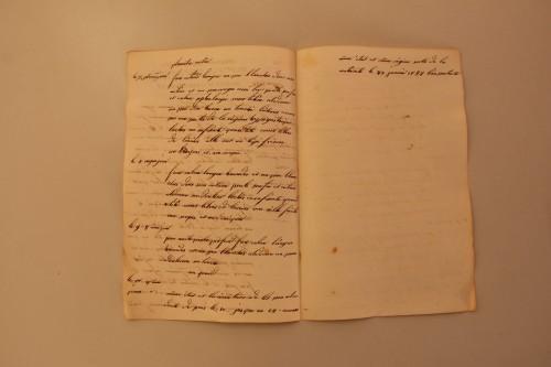 Fonds Villeneuve - Première fiche d'accouchement de l'année 1832: pages intérieures Bibliothèque de Médecine-Odontologie Timone